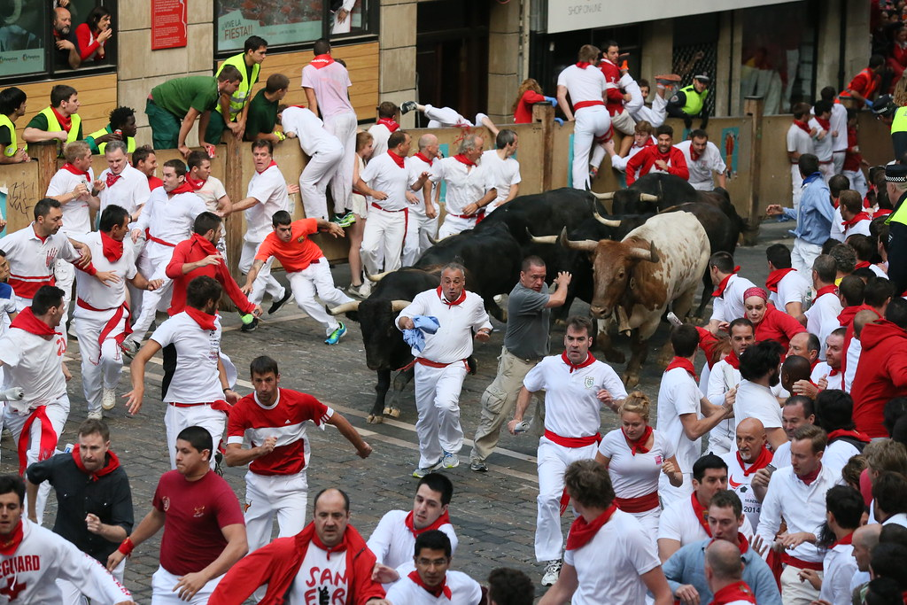 Running of the Bulls, Spain. world's largest festivals