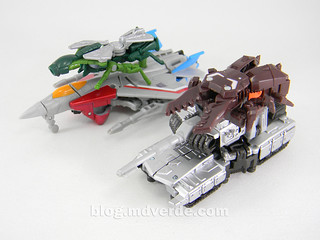 Transformers Megatron con Chop Shop & Starscream con Waspinator - Transformers Generations Takara - modo alterno | by mdverde