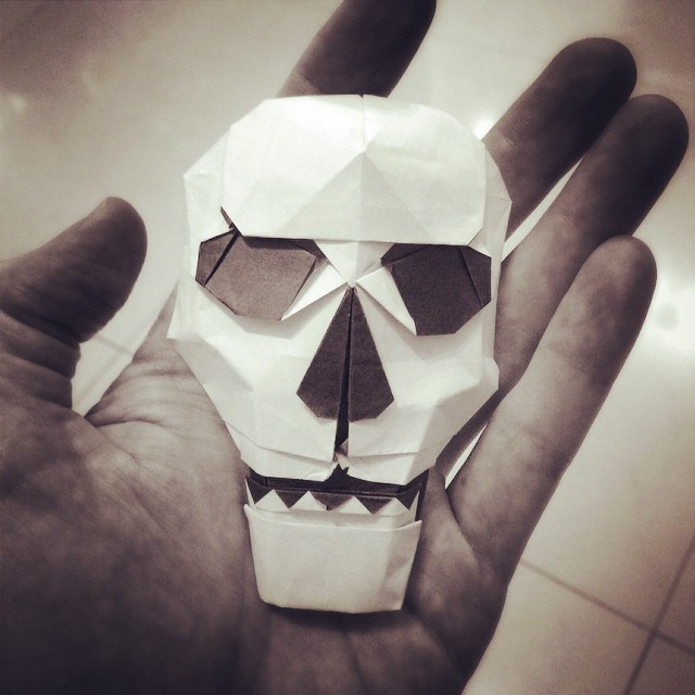 My New Origami Skull Design For Halloween And The Dayo Flickr
