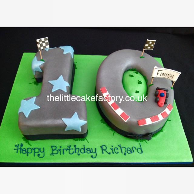 Racing Track Number 10 Cake Car Speed 10th Birthdaycake Celebration Vanilla Personalised Birthday Boy Formula1 Romford