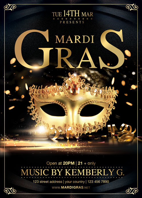 Mardi gras flyer template you can download the psd file he flickr mardi gras flyer template by brielldesign saigontimesfo