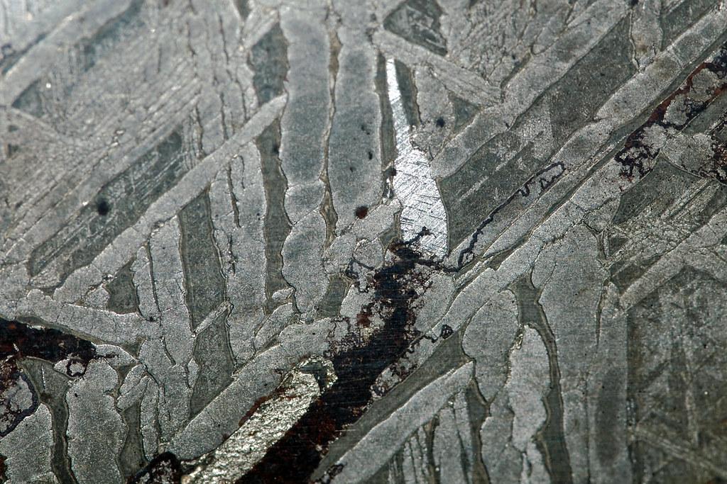 Widmanstätten Pattern In IronNickel Meteorite Rmk60 Flickr Interesting Widmanstatten Pattern