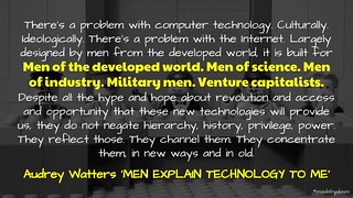 Men Explain Technology to Audrey Watters | by mrkrndvs