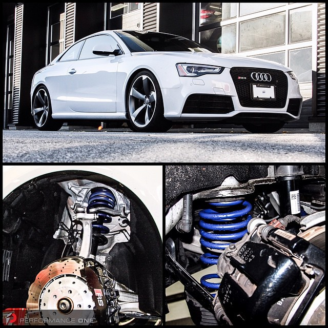 2014 Audi RS5 lowered with H&R Sport Springs    #Audi | #rs | #rs5 | #b8 | #h&r | #hrsprings | #performanceone | #awg | #autowest | #autowestgroup | @hrsprings | @audizine