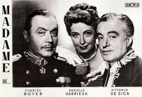 Charles Boyer, Danielle Darrieux and Vittorio De Sica in Madame de... (1953)