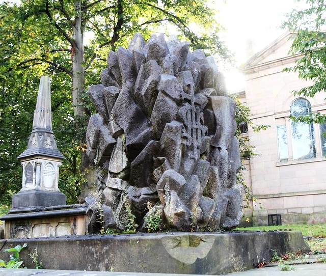 Memorial Stone behind St John's Church, Blackburn