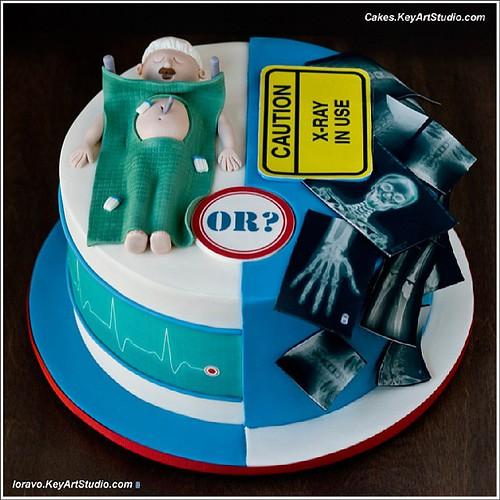 Birthday Cake Design For Doctor : Doctor, surgeon, radiology, X-Ray cake Larissa Cakes ...