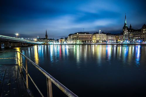 Stockholm skyline at night | by Giuseppe Milo (www.pixael.com)