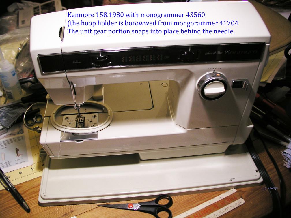 P40404040 Kenmore 4040 W Monogrammer 40 S Flickr Enchanting Kenmore 28 Sewing Machine