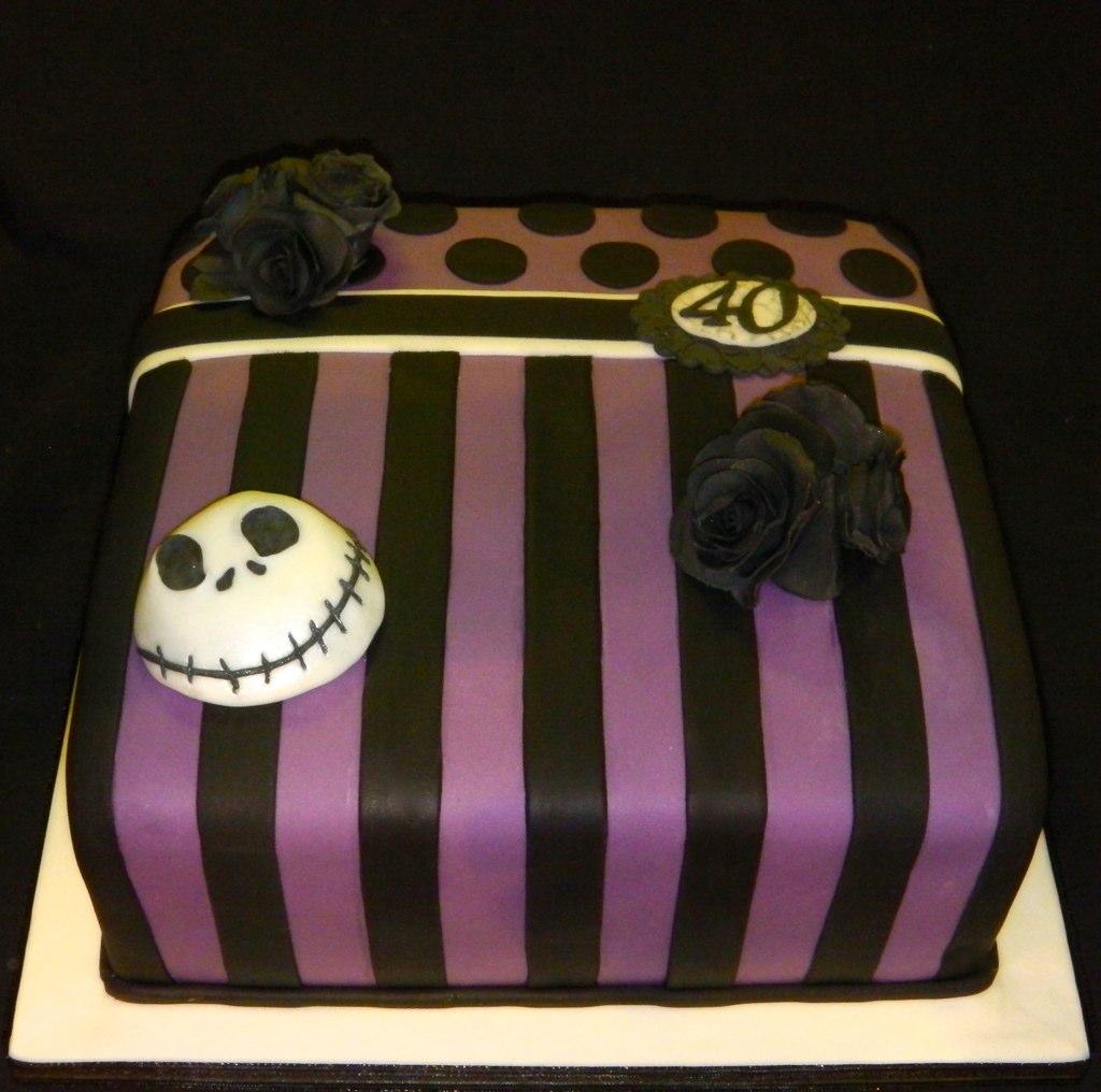 Nightmare Before Christmas 40th Birthday Celebration Cake Flickr