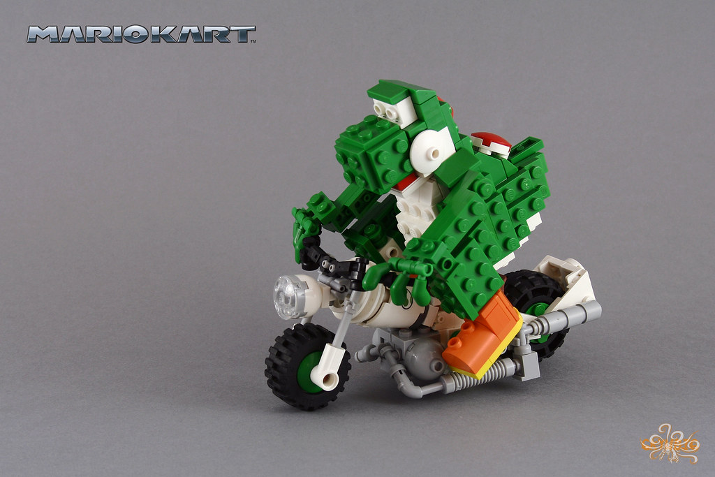 Yoshi On His Sneakster Mariokart This Moc Is Part Of A C Flickr