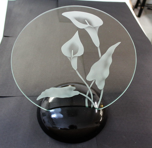 Etched Cala Lily | by Northern Art Glass