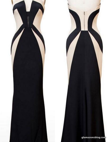 Black and Ecru Silk Gown   Black and Ecru Silk Gown fashionw…   Flickr