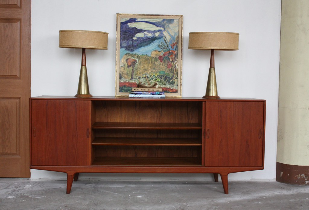Danish Sideboard Credenza : Uplifting danish midcentury modern teak sideboard credenzau2026 flickr