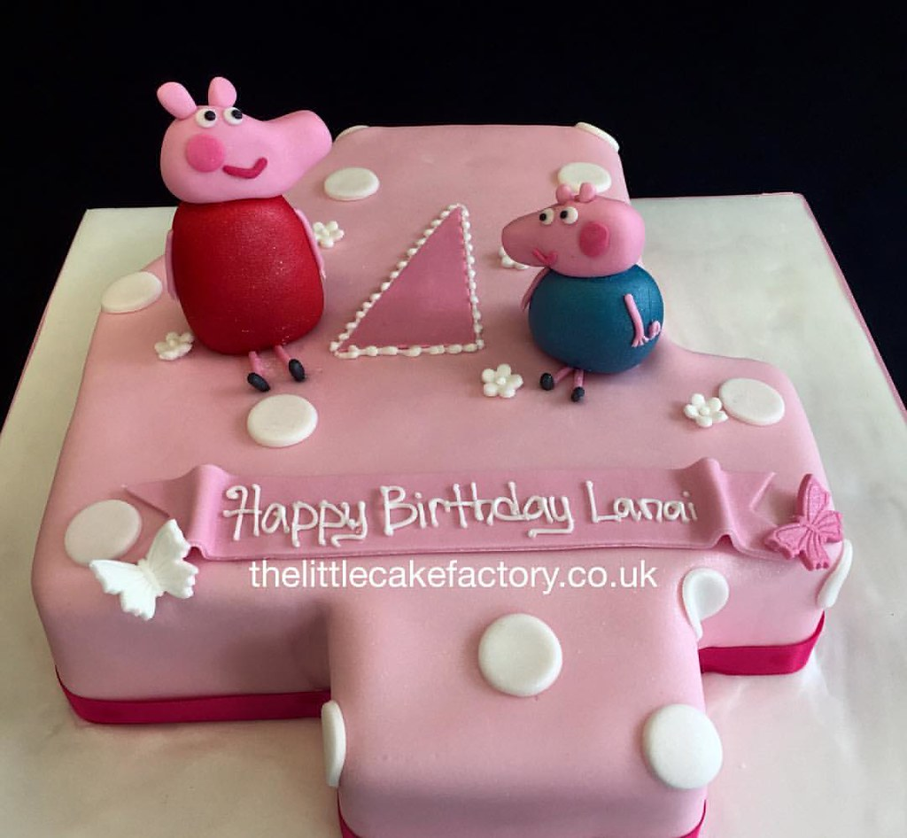 Peppa Ping Number 4 Cake Peppapig Peppapigworld Milkshake Children