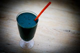 Breakfast in a glass Spirulina