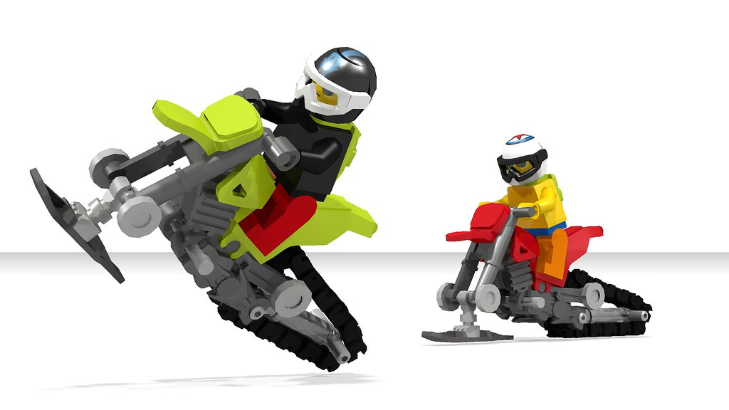 How To Build A Motorcycle Snowmobile Timbersled Moc Flickr
