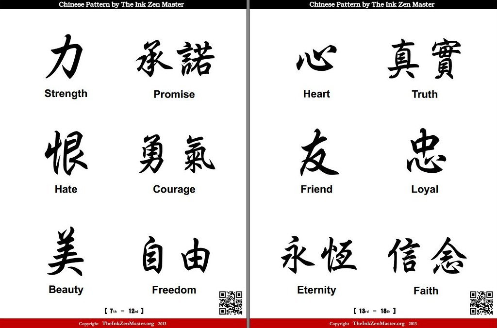 Free Chinese Symbol Templates For Tattoo Chinese Tattoos B Flickr