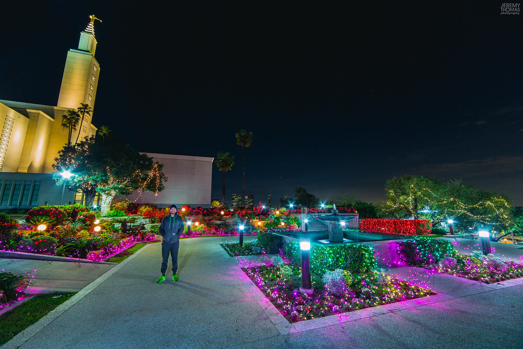 los angeles lds temple christmas light display by jeremy thomas photography
