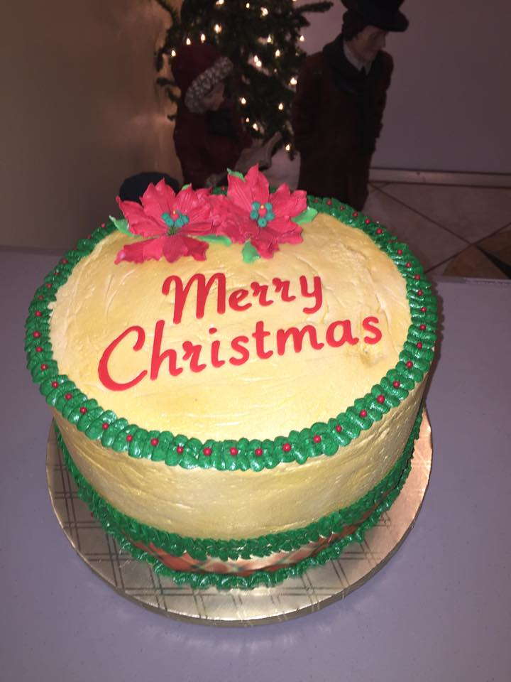 Merry Christmas Cake Cake Lady Wpb Flickr
