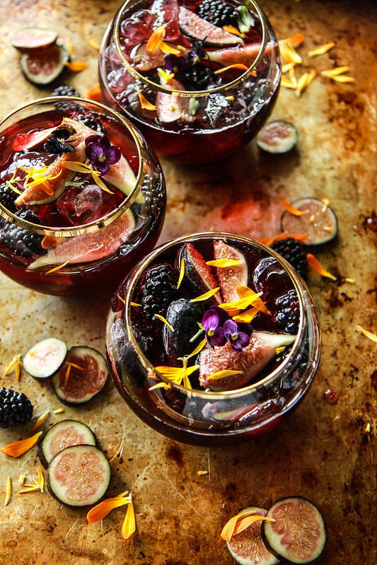 Blackberry Fig and Bourbon Punch from HeatherChristo.com