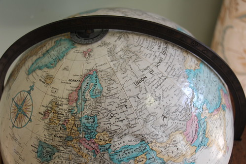 This globe is way old. | by ironypoisoning