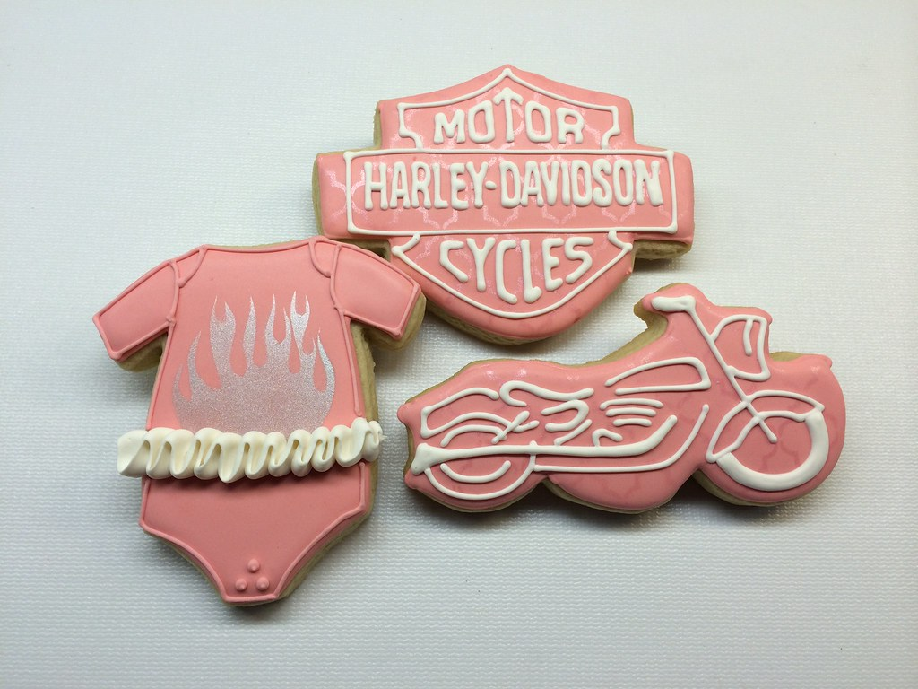 ... Harley Davidson Theme Baby Shower | By Cheers To Cookies