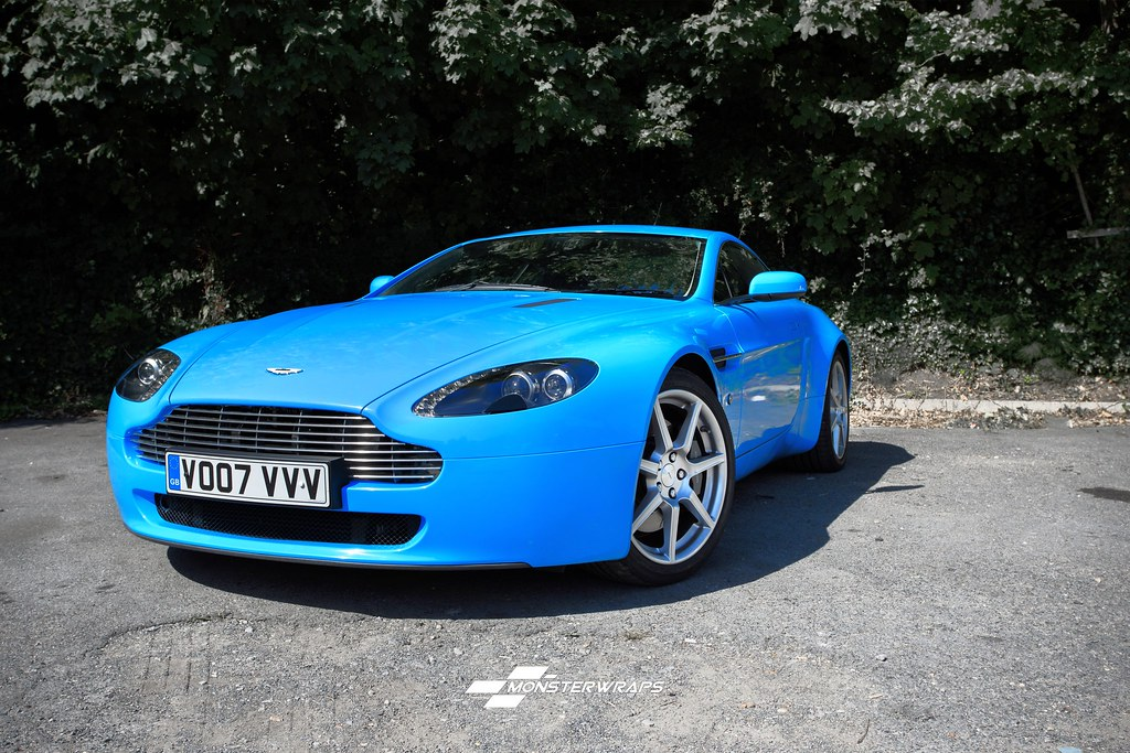 Aston Martin DB Gloss Light Blue Wrap Aston Martin DB Gl Flickr - Aston martin db8