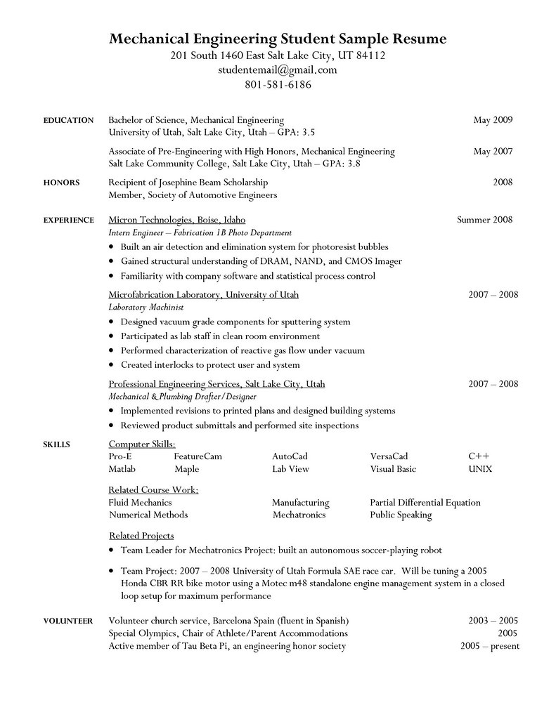 ... College Student Resume Objective Sample | By Jobresume