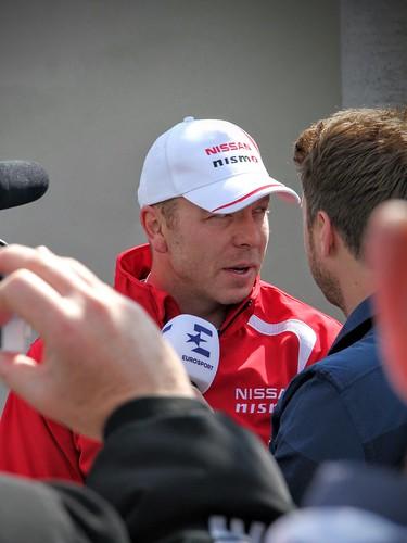 Chris Hoy talking to Eurosport at LeMans