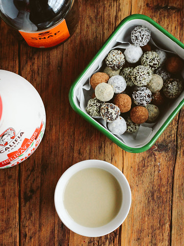 Salted chocolate truffles with a side of nog | by Ashlae | oh, ladycakes