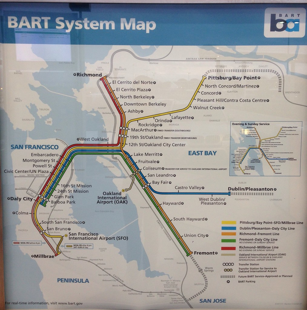 Updated BART map with OAC 1114 The updated BART map inc Flickr