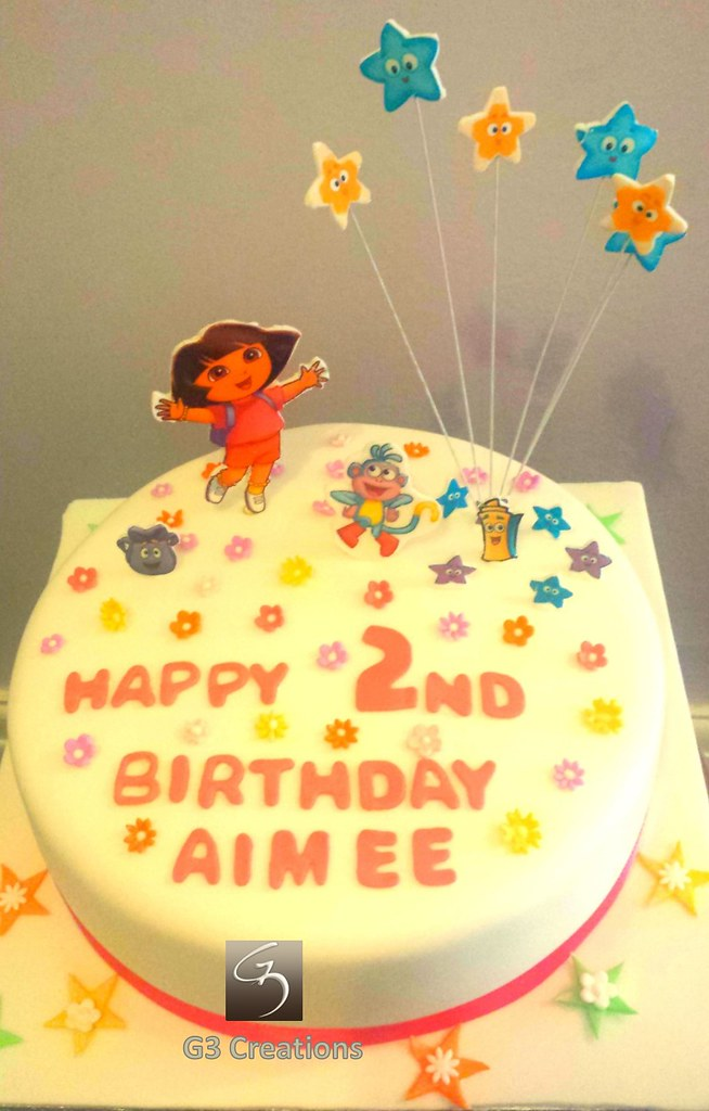 Edible Image Dora And Friends Birthday Cake Dora Themed 2n Flickr