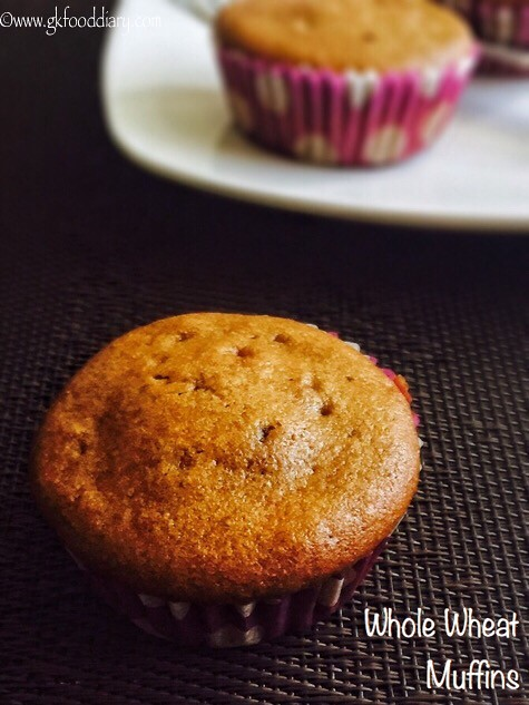 Eggless Whole Wheat Muffins Recipe for Toddlers and Kids2