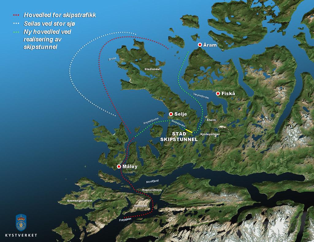 stad kart Stad skipstunnel | Illustrasjonen viser hvor Stad Skipstunne… | Flickr stad kart