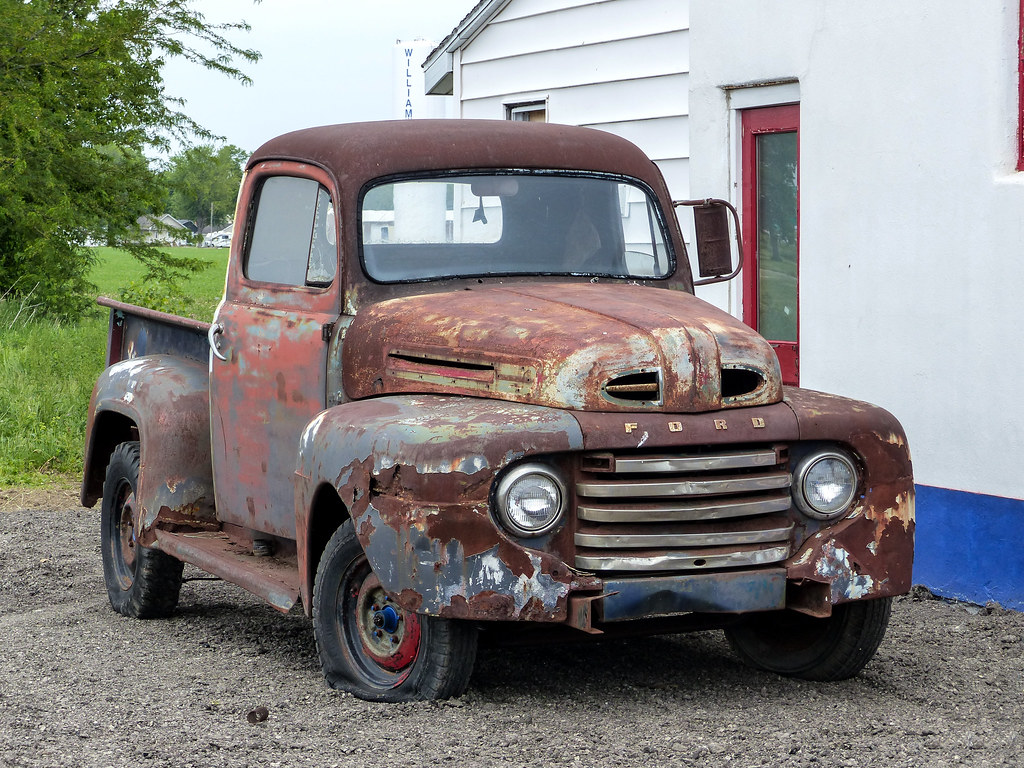 Rusty Old 1948? Ford Pickup Truck | Route 66 in Williamsvill… | Flickr