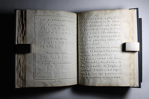 First Braille Book 1829 Description Sample Page From