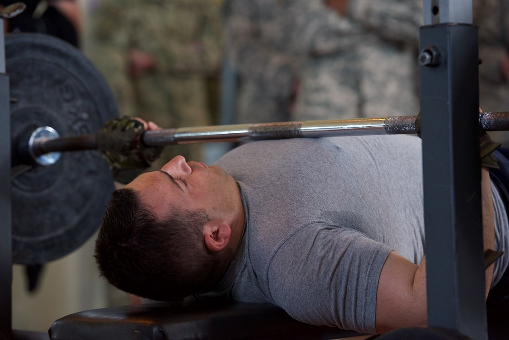 Bench Press Age Weight Chart: Bench Press | A Georgian Soldier competes in the bench pressu2026 | Flickr,Chart