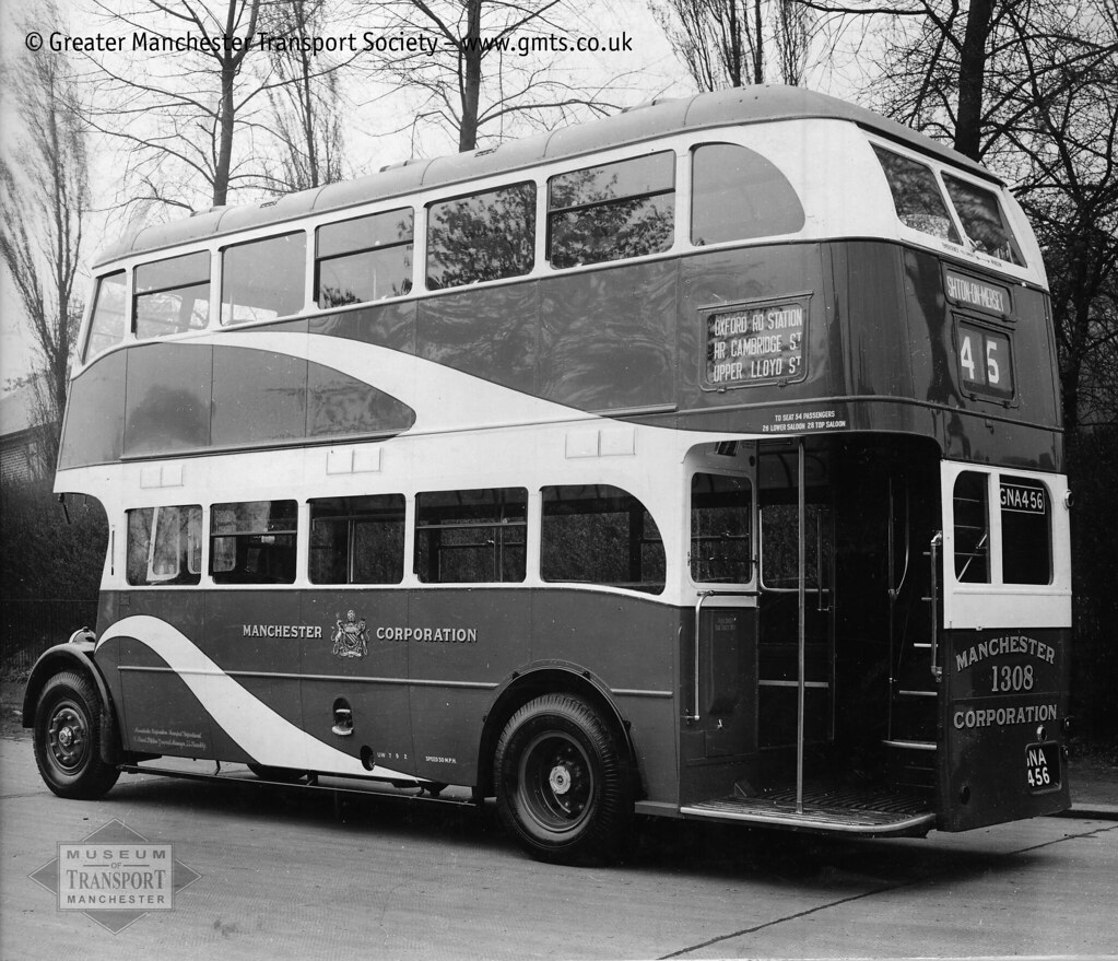 ... Manchester Corporation 1308, June 1940 | by Museum of Transport Greater  Manchester archive