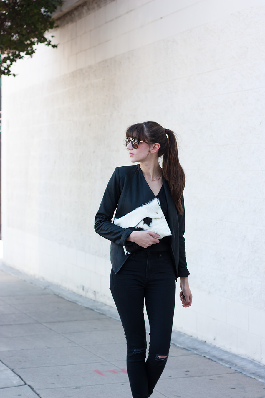 Walter and George Clutch, How to Wear All Black, Black Leather Jacket