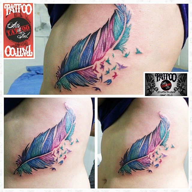Cerrando El Año Pluma Colores Tattoo Tattooarte Flickr