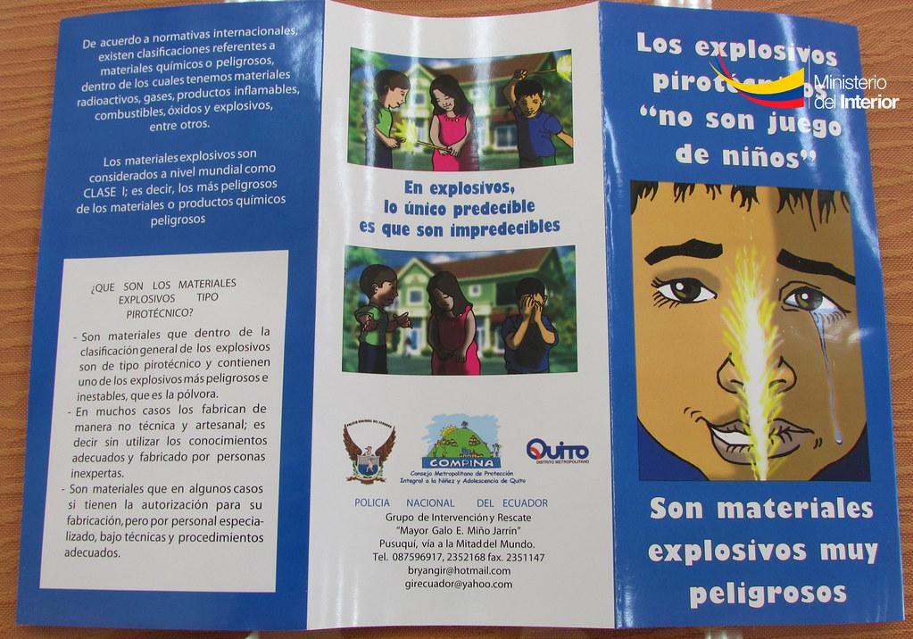 Triptico Sobre Juegos Pirotecnicos 1 Ministerio Interior Ecuador