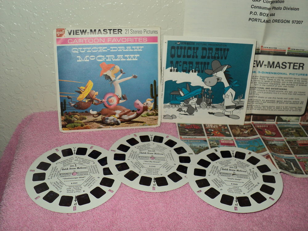 vtg 1961 gaf viewmaster quick draw mcgraw classic cartoon flickr