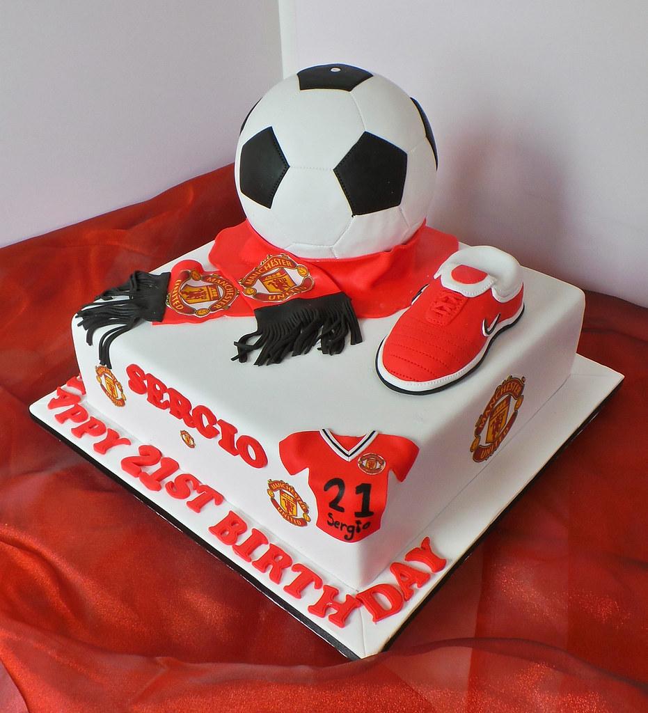 Manchester United 21st Themed Birthday Cake Design Was Bro Flickr
