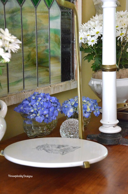 Hydrangeas in antique French molds - Housepitality Designs
