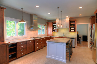 white-stained-kitchen-cabinets-tile-island-backsplash-remodel-remodeling-home-sebring-services | by sebringdesignbuild