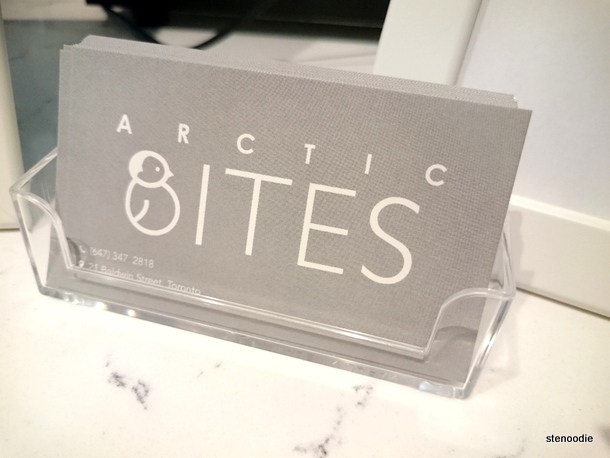 Arctic Bites business cards