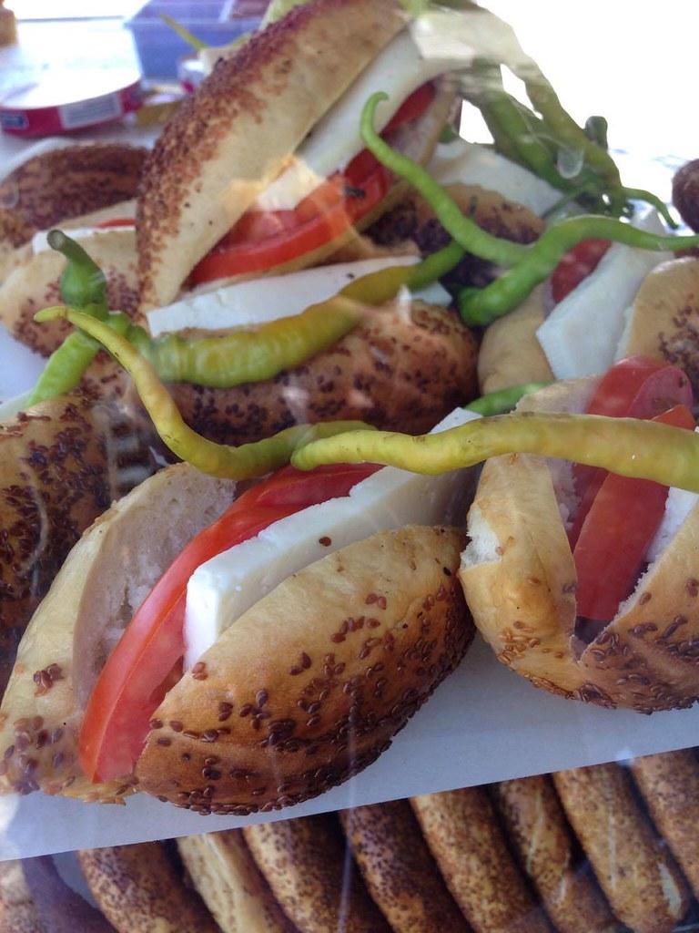 芝麻圈三明治