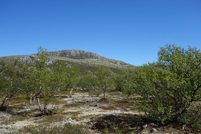 Högpiken from the valley floor below