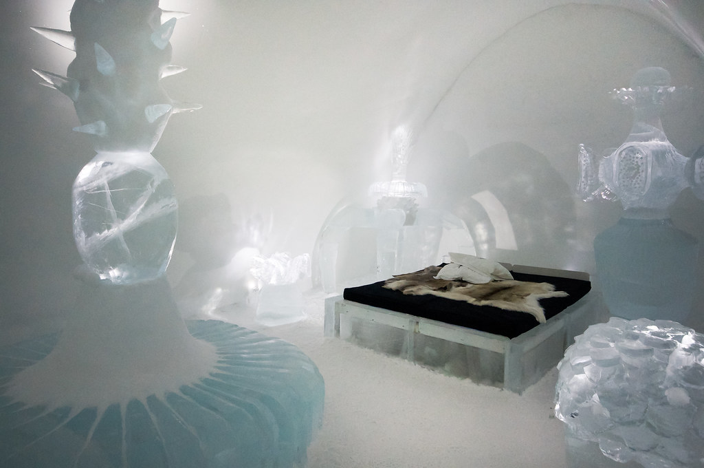 Hotel literally Built Of Ice - Ice hotel